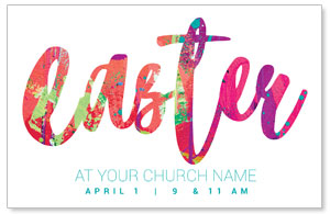 Easter Paint Splatter Postcards