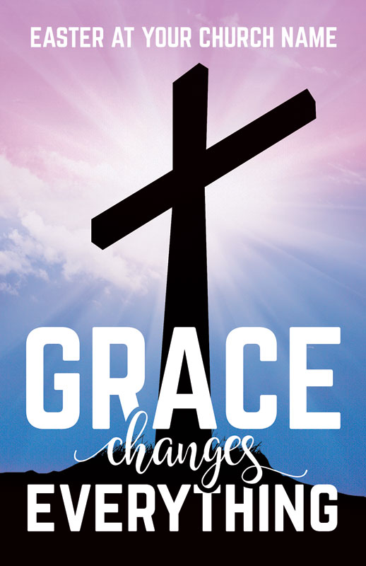Grace Changes Everything Cross Postcard Church Postcards