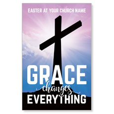 Grace Changes Everything Cross Postcard