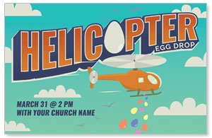 Helicopter Egg Drop Church Postcards