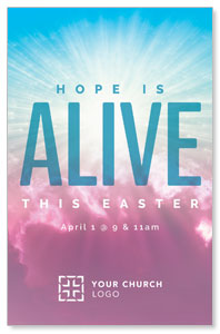 Hope Is Alive Clouds Church Postcards