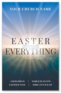 Light Rays Easter Changes Postcards