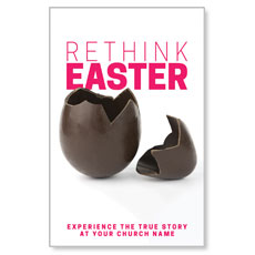 Rethink Easter Chocolate Egg Postcard