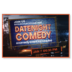 Date Night Comedy Postcard