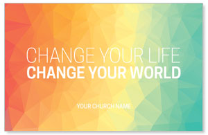 Change Your World Postcards