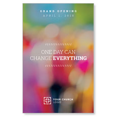 Colorful Change Everything Postcard