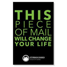 CityReach Black and Green Postcard