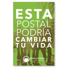 CityReach Urban Green Spanish Postcard