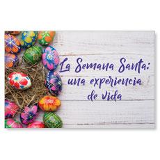 UMC Easter Eggs Spanish Postcard