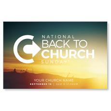 BTCS Logo Sunrise Postcard