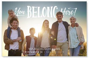 BTCS You Belong Here Family Postcards