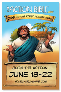 The Action Bible VBS Church Postcards