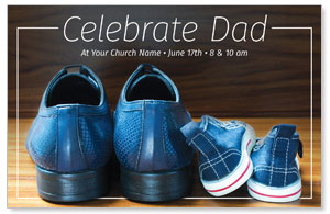 Celebrate Dad Shoes Postcards