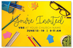 VBS Yellow Postcards