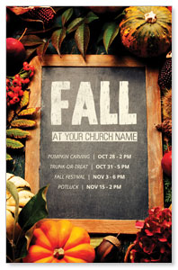 Fall Events Chalkboard Postcards