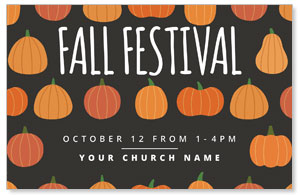 Pumpkins Hand Drawn Fall Festival 4/4 ImpactCards