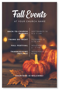Fall Events Gold Lights Postcards