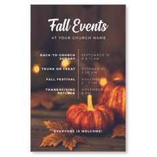 Fall Events Gold Lights Postcard