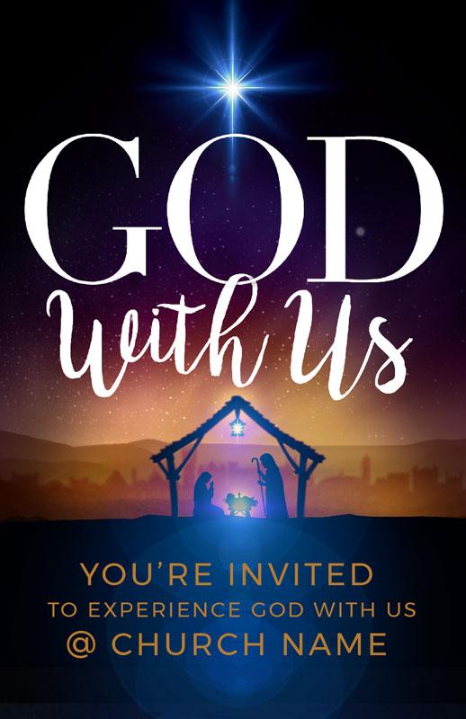 god with us advent postcard - church postcards