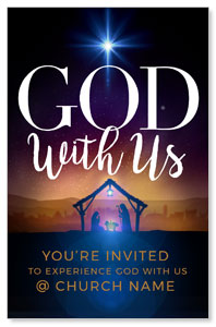God With Us Advent Church Postcards