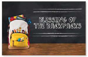 UMC Backpack Blessings Church Postcards