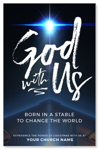 God With Us Stable Church Postcards