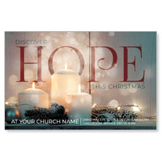 Candles Hope Church Postcard