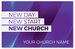 New Church Purple 4/4 ImpactCards