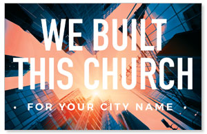 Built This Church Church Postcards