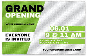 Grand Opening Invite Green 4/4 ImpactCards