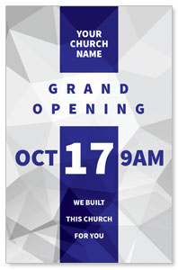 Grand Opening Geometric 4/4 ImpactCards