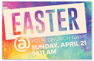 Easter At Colorful 4/4 ImpactCards