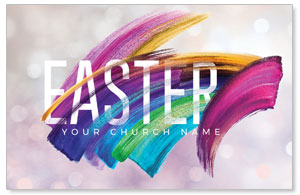 Shimmer Stroke Easter Church Postcards