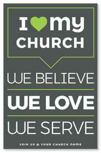 ILMC Believe Love Serve 4/4 ImpactCards