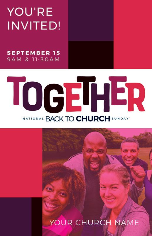 btcs together postcard - church postcards