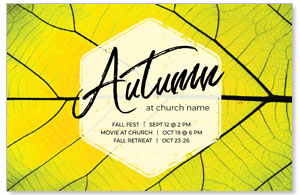 Bright Green Autumn 4/4 ImpactCards