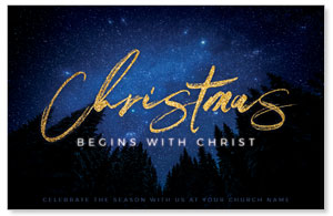 Night Sky Gold Script Christmas 4/4 ImpactCards