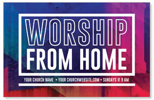 Abstract Worship From Home 4/4 ImpactCards