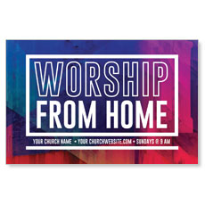 Abstract Worship From Home