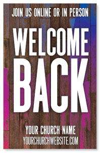 Colorful Wood Welcome Back 4/4 ImpactCards