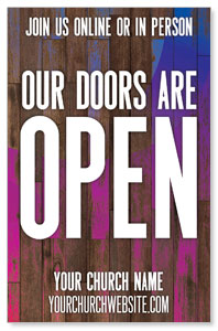 Colorful Wood Doors Are Open 4/4 ImpactCards