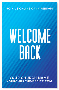 Retro Geo Blue Welcome Back 4/4 ImpactCards