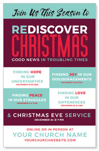 ReDiscover Christmas Advent Contemporary 4/4 ImpactCards