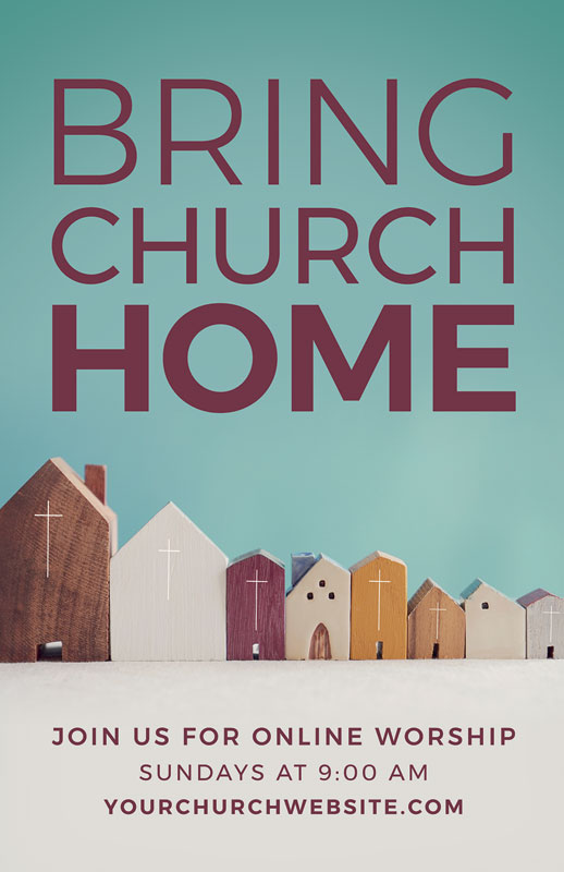Church Postcards, Welcome Back, Bring Church Home, 5.5 X 8.5