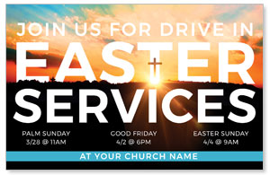 Drive In Easter Services 4/4 ImpactCards