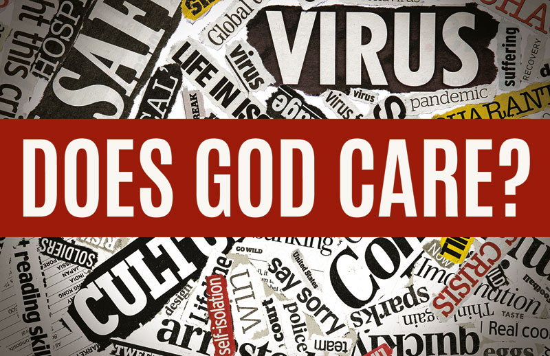 Church Postcards, Encouragement, Does God Care News, 5.5 X 8.5
