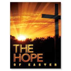 Easter Hope Cross Small Postcard
