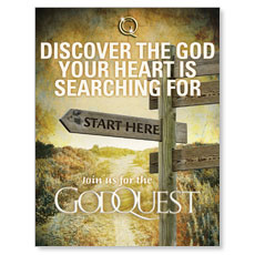 GodQuest Sign Post Small Postcard