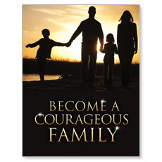 Courageous Family Small Postcard