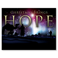Christmas Brings Hope Small Postcard
